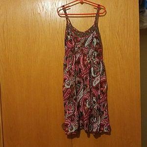 Paisley print summer dress